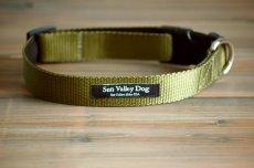 画像1: 【Sun Valley】 New ウェブカラー首輪 Olive (1)