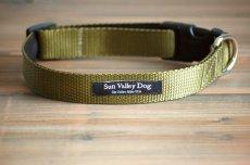 画像4: 【Sun Valley】 New ウェブカラー首輪 Olive (4)