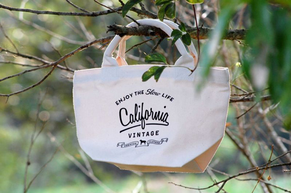 画像1: 【 California Vintage 】コットンバッグ (1)