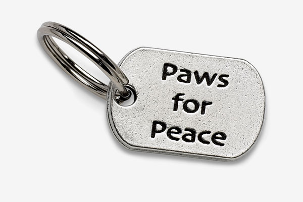 画像1: 【Big Paw Designs】ドッグチャーム Paws for Peace (1)