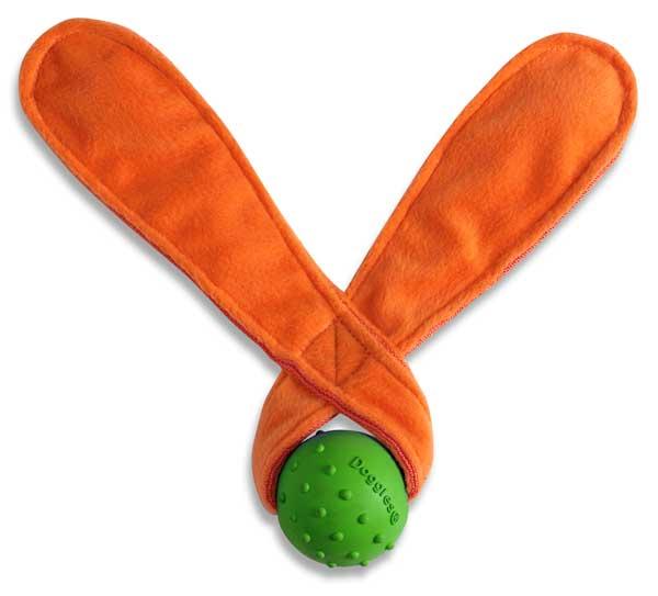 画像1: 【DOGGLES】耳付きボール - オレンジ (1)