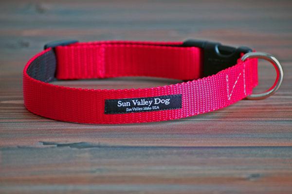 画像1: 【Sun Valley】 New ウェブカラー首輪 Red (1)